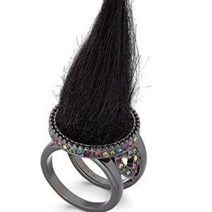 Betsey Johnson Trolls Faux Fur Ring